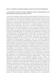 Kap. 2: Verschiedene methodische Zugänge: deskriptive und ...
