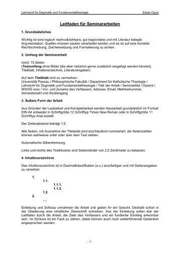 Leitfaden für Hausarbeiten - Philosophische Fakultät - Universität ...