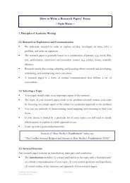 How to Write a Research Paper/ Essay – Style Sheet – - Universität ...