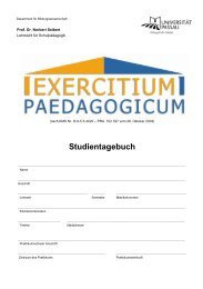 Studientagebuch - Universität Passau