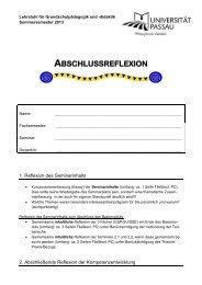 Abschlussreflexion (pdf) - Universität Passau