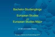 European Studies - Philosophische Fakultät - Universität Passau