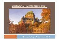 QUÉBEC – UNIVERSITÉ LAVAL - Universität Passau