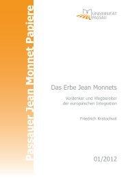 Passauer Jean Monnet Papiere - Universität Passau