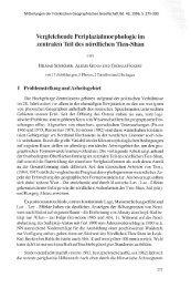Vergleichende Periplazialmorphologie im zentralen Teil des ...