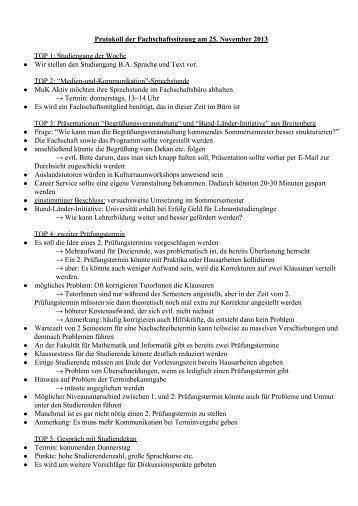 25.11.2013 - Philosophische Fakultät