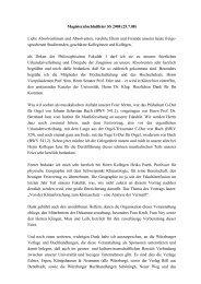 Magisterabschlußfeier SS 2008 (25.7.08) Liebe Absolventinnen und ...