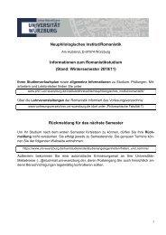 Infoblatt Erstsemester - Philosophische Fakultät I - Universität ...