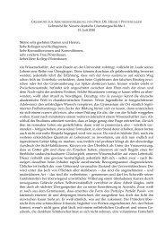 Lehrstuhl für Neuere deutsche Literaturgeschichte I 15. Juli 2010 ...