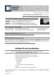 Leitfaden für das Grundstudium - Universität Würzburg