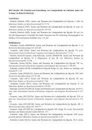DFG-Projekt: Die Funktion und Entwicklung von Lokalpartikeln im ...