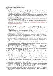 Heinrich Hettrich: Publikationsliste