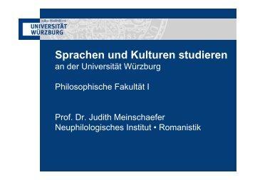 Sprachen und Kulturen studieren - Philosophische Fakultät I ...