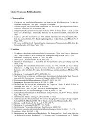 Günter Neumann: Publikationsliste