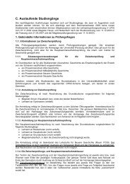 C. Auslaufende Studiengänge - Philosophische Fakultät I ...