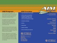 AIM Program - Clas News and Publications - University of Florida