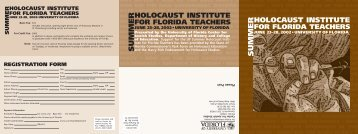 2002 Holocaust - Clas News and Publications - University of Florida