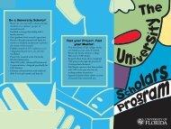 USP brochure. qxd - University of Florida