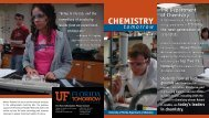 CHemiSTRy - Clas News and Publications - University of Florida