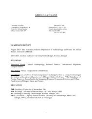 Curriculum Vitae (PDF) - News and Publications - University of Florida