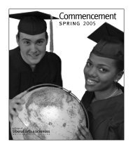Graduation 2005 - Clas News and Publications - University of Florida