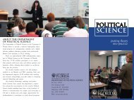 Political Science - News and Publications - University of Florida