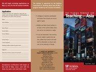 TeachingonAsia - University of Florida