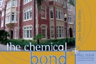 2004 Chemical Bond - Clas News and Publications - University of ...