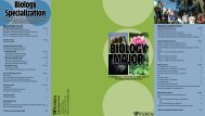Biology Specialization