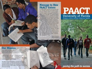 paact - 2006 - Clas News and Publications - University of Florida