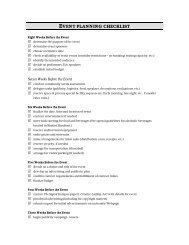 Download Event Planning Checklist (PDF) - News and Publications