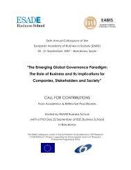 Call for Contributions - Esade