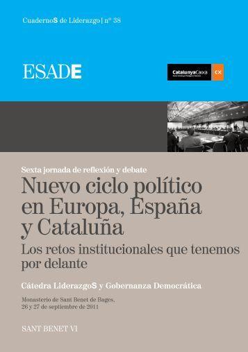 Nuevo ciclo político en Europa, España y Cataluña - LIDERCAT. El ...