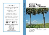 oral history instabook - News and Publications - University of Florida