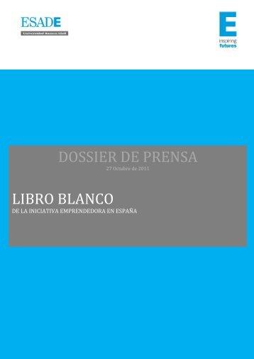 DOSSIER DE PRENSA LIBRO BLANCO - Esade