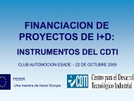 FINANCIACION DE FINANCIACION DE PROYECTOS DE I+D: - Esade