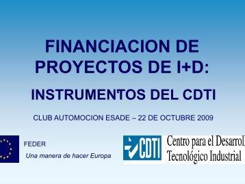 FINANCIACION DE FINANCIACION DE PROYECTOS DE I+D: - Esade