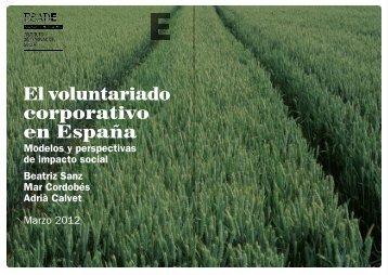 El voluntariado corporativo en España - Esade