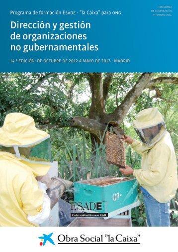 """Dirección y Gestión de ONG - Obra Social """"la Caixa"""""""