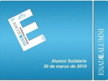 Alumni Solidario 30 de marzo de 2010 - Esade