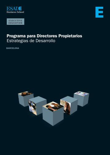 Programa para Directores Propietarios Estrategias de ... - Esade