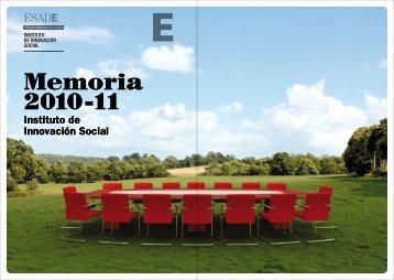 Memoria 2010-11 Memoria 2010-11 - Esade