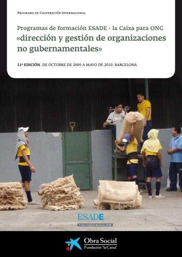 Programas de formación ESADE - la Caixa para ONG