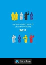 Informe sobre l'impacte dels microcrèdits 2011 - MicroBank