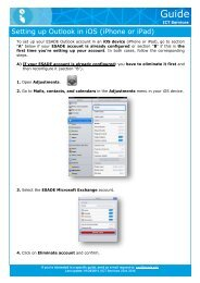 Setting up Outlook in iOS (iPhone or iPad) - Esade