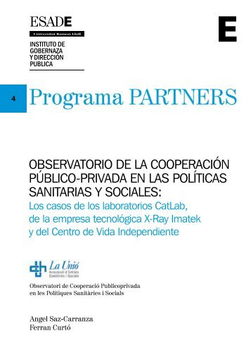 ObservatOriO de la cOOperación públicO-privada en las ... - Esade