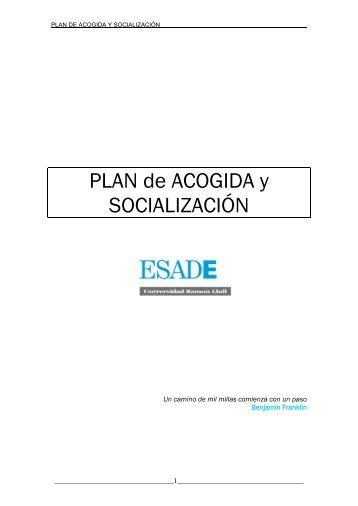 PLAN de ACOGIDA y SOCIALIZACIÓN - Esade
