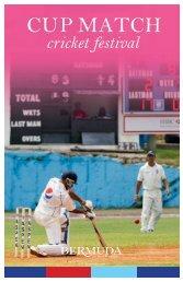 Cup Match Cricket Festival Brochure - Bermuda