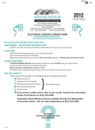 ELECTRICAL SERVICE ORDER FORM - Minneapolis