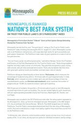 NATION'S BEST PARK SYSTEM - Minneapolis